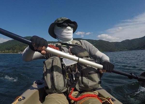 奥琵琶湖 カヤックで移動