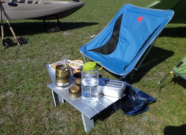 渚園キャンプ 昼食