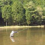 段戸湖でフライフィッシング【釣りツーリング】