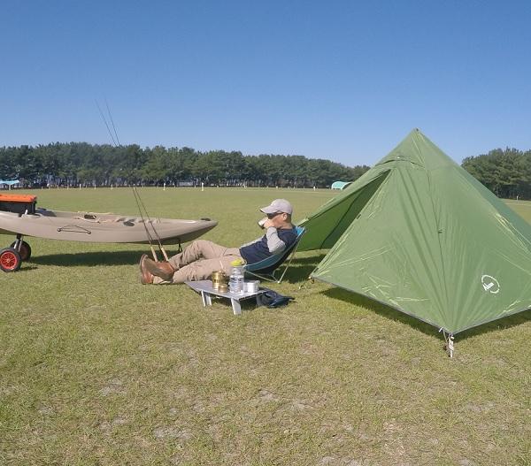 渚園 釣りキャンプ