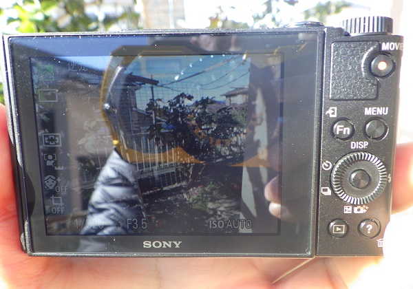 WX500 液晶モニター 視認性