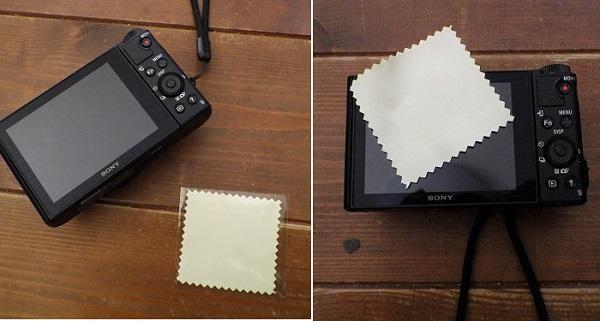 WX500に液晶保護フィルムを貼る