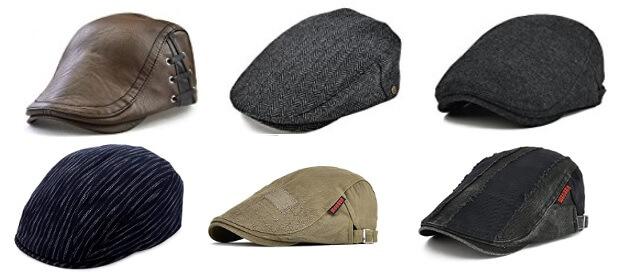 オープンカーに似合うハンチング帽子