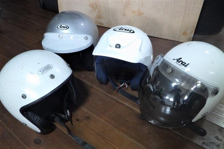 管理人所有の各種ジェットヘルメット