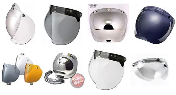 人気のジェットヘルメット用シールド