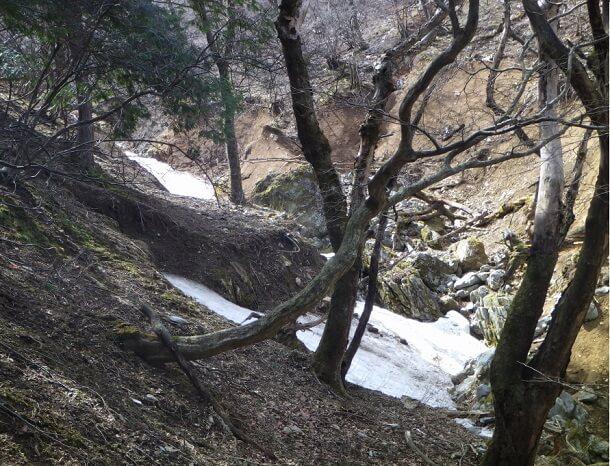 藤原岳 7合目 残雪