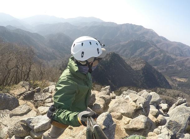 鎌ヶ岳山頂からの眺め 滋賀方面