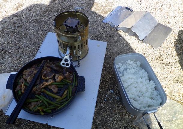 鎌ヶ岳山頂 昼食