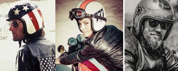 ジェットヘルメット バイカーファッション