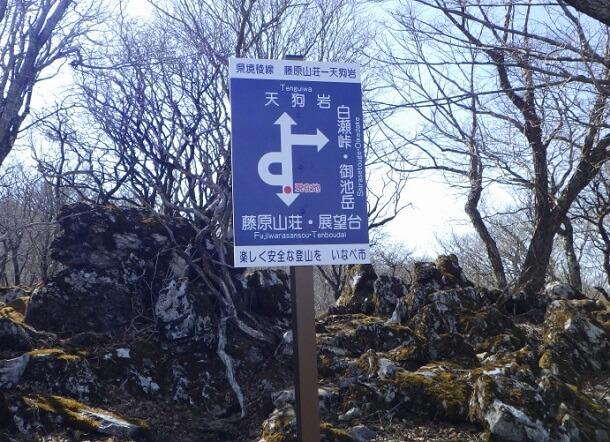 藤原岳 天狗岩から下山