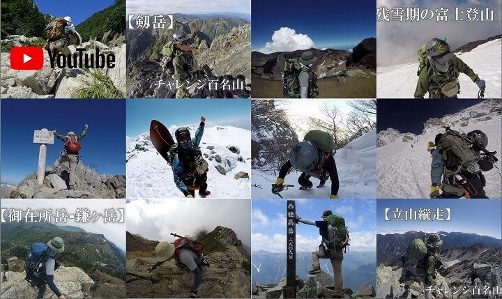 管理人flyderが登った山の一部