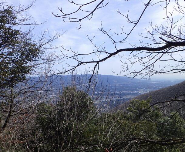 藤原岳から見る養老山脈