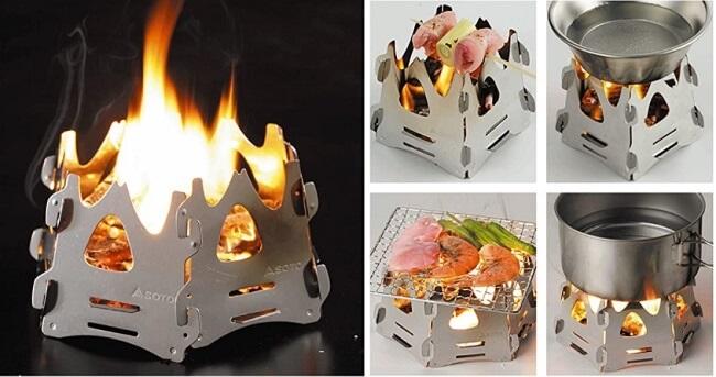 sotoのミニ焚き火台テトラ