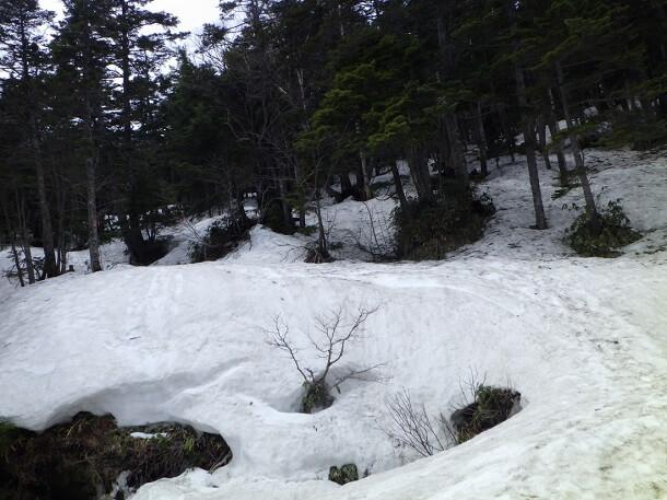 御嶽山 7合目からの登山道