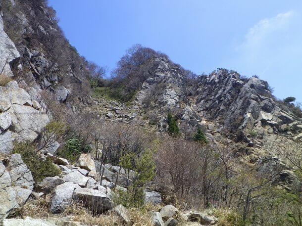 岳峠から鎌尾根方面に