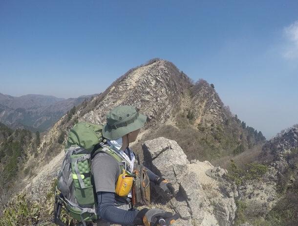鎌ヶ岳の岩稜