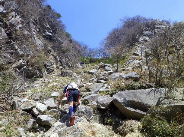 鎌ヶ岳 急登り