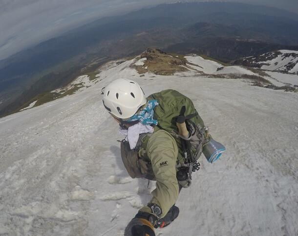 御嶽山 9合目から下山開始