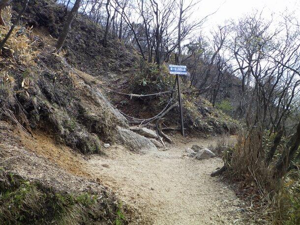武平峠から鎌ヶ岳への登山道