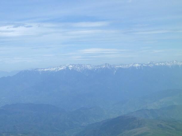 御嶽山さんからの眺め 木曽山脈