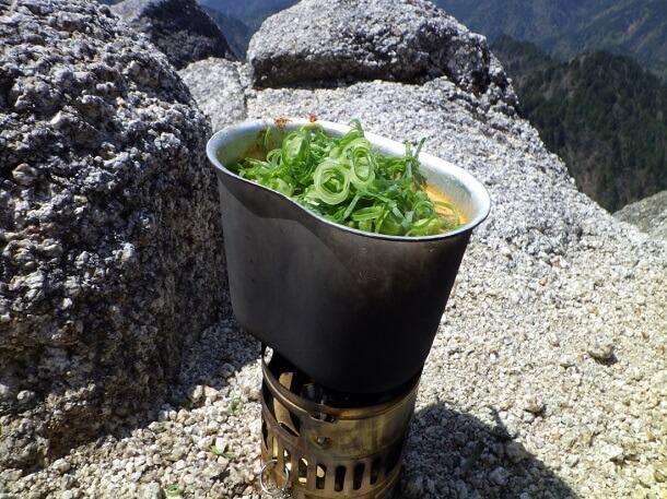 鎌ヶ岳 山頂飯