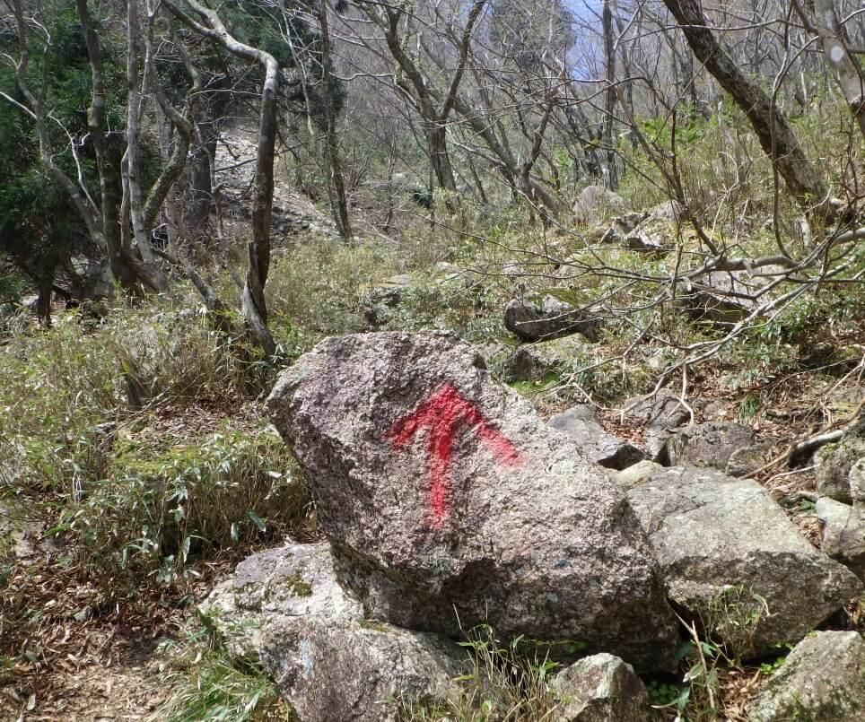 鎌ヶ岳 長石谷の最終地点
