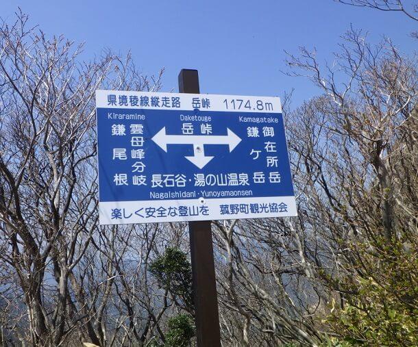 鎌ヶ岳 岳峠