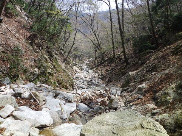 鎌ヶ岳 長石谷 源流