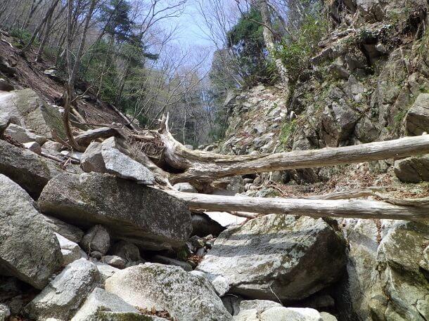 長石谷 最上流