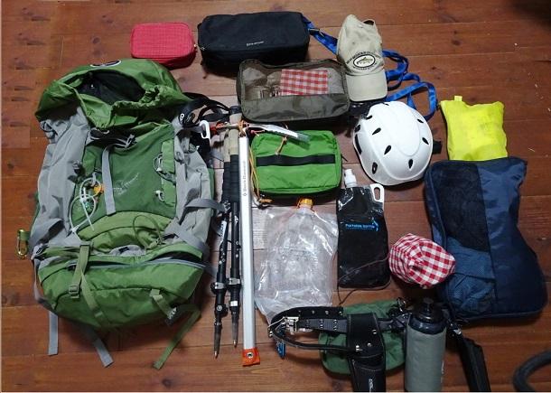 御嶽山 登山 5月 装備
