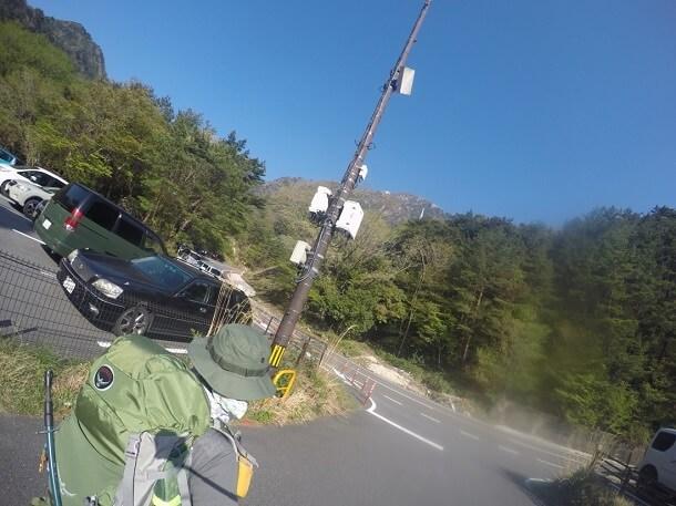 鎌ヶ岳の登山口に向けて出発