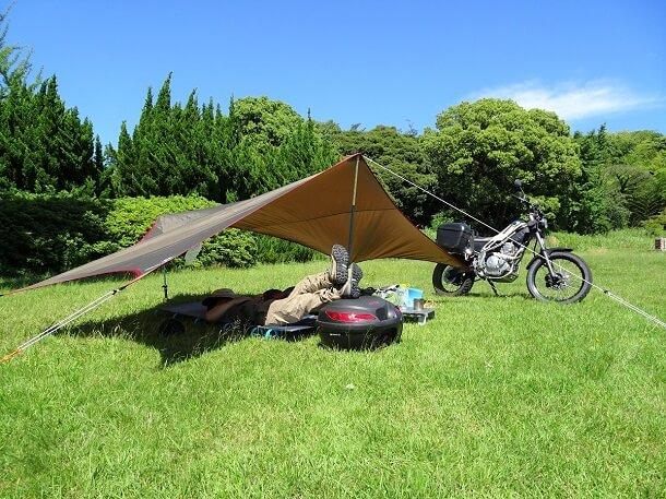 バイク キャンプ flyder
