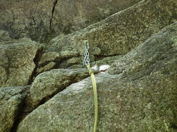 本谷 チェーンとロープ