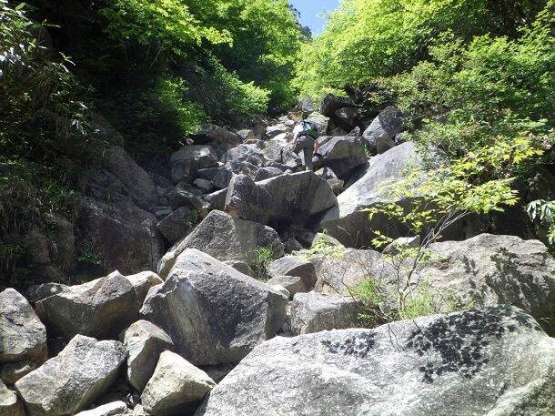 本谷コース ゴロ岩