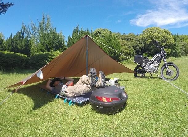 ペンタシールド バイク キャンプ