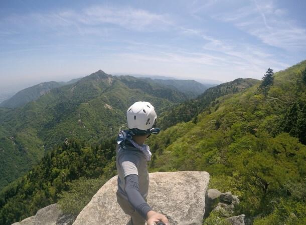 大黒岩から見る鎌ヶ岳