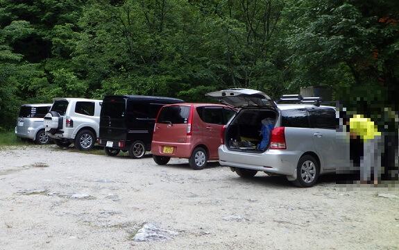 伊奈川ダム駐車場
