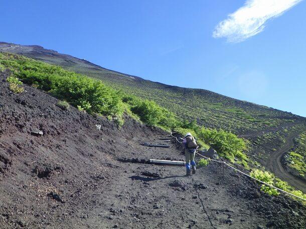 富士宮ルート 5合目から6合目 登山道