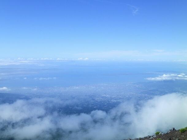 富士宮ルートから見下ろす駿河湾