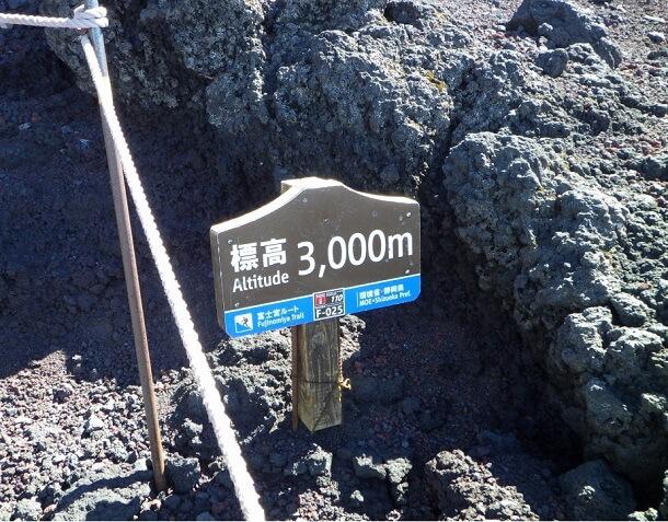 富士宮ルート 標高3000m
