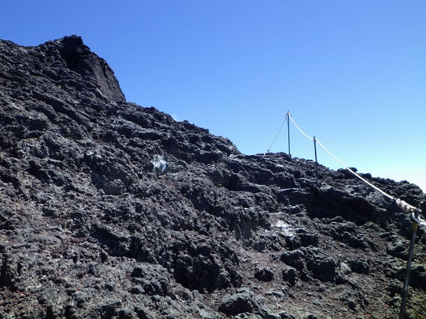富士宮ルート 8合目 登山道