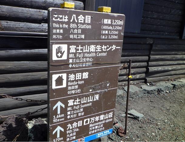 富士宮ルート8合目に到着