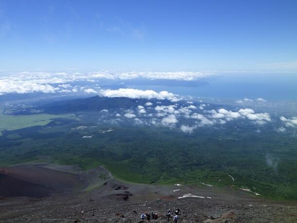 富士宮ルート 8合目からの眺望