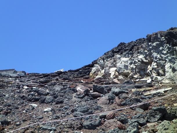 富士山 8合目から9合目を目指す