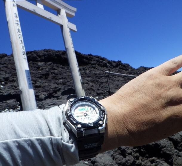 富士宮ルート 富士頂上に到着
