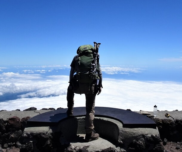 富士宮ルート 富士頂上 展望台