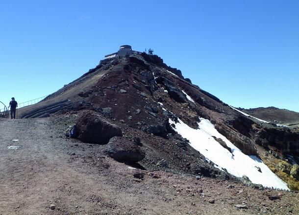 富士山頂 剣ヶ峰に向かう