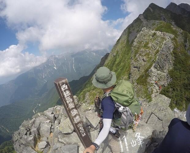 西穂高岳独標からの眺め