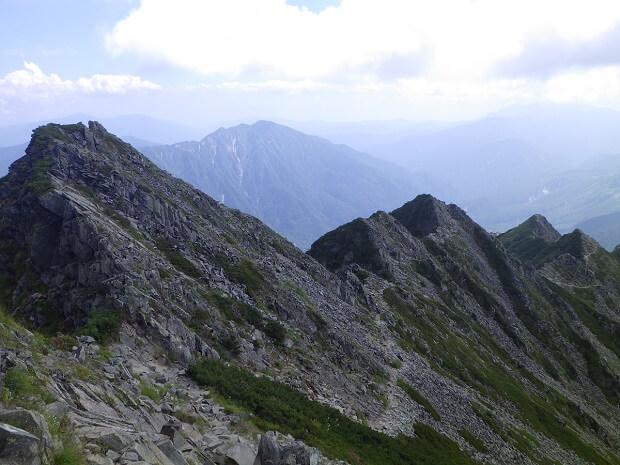 西穂高高の岩稜