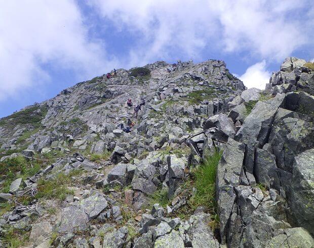 西穂高岳山頂アタック